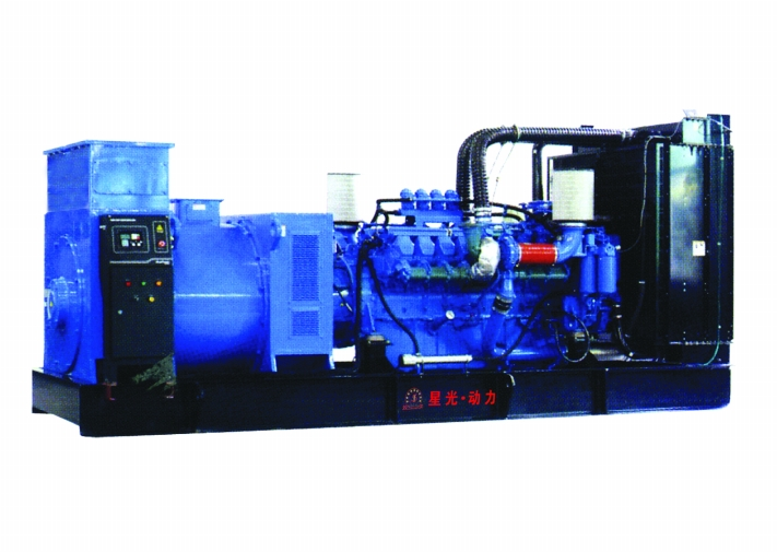 柴油发电机组 上柴柴油发电机组 陕西柴油发电机组 星光集高清图片